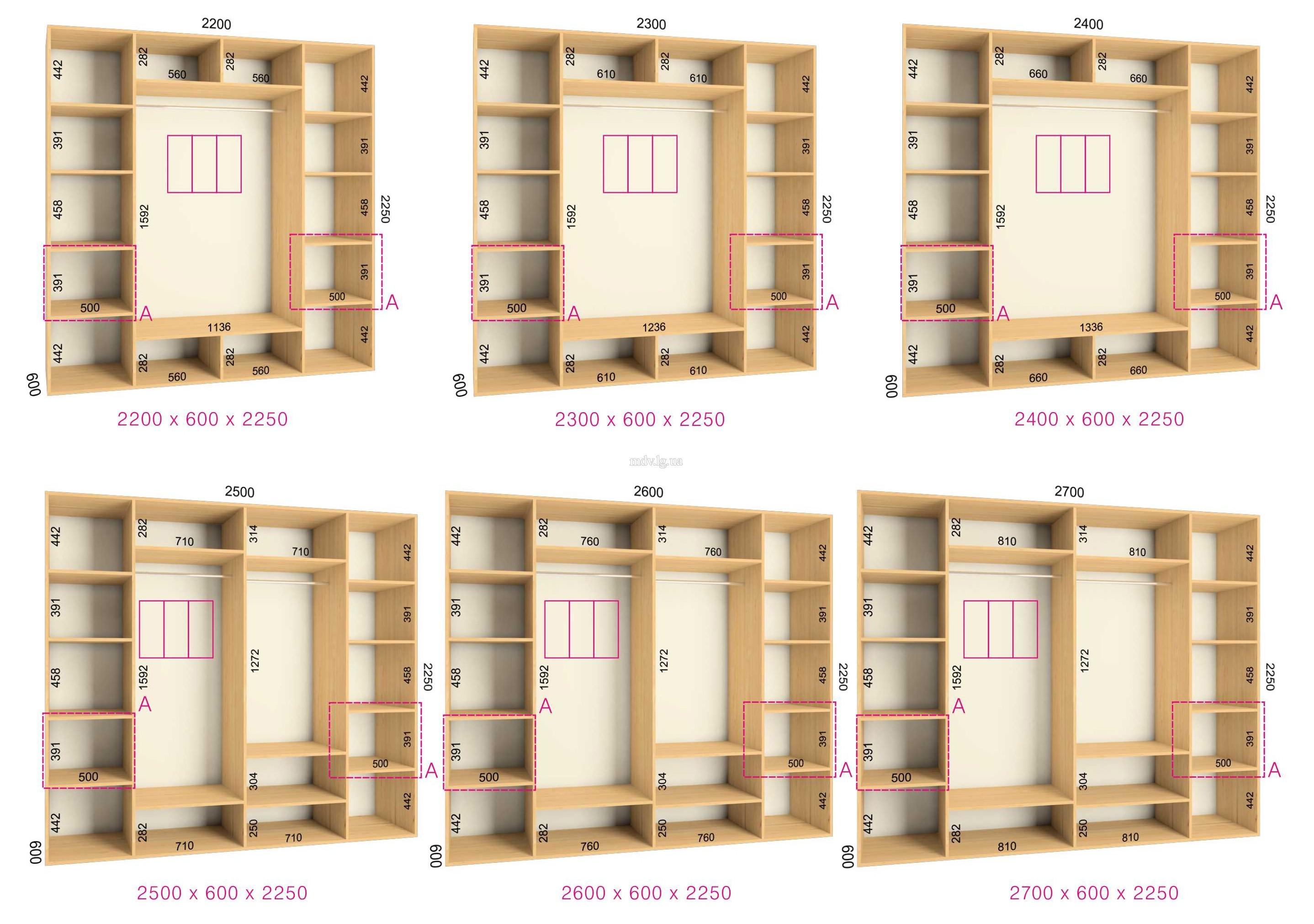 Внутреннее наполнение шкафов купе на заказ - мебельный калуг.