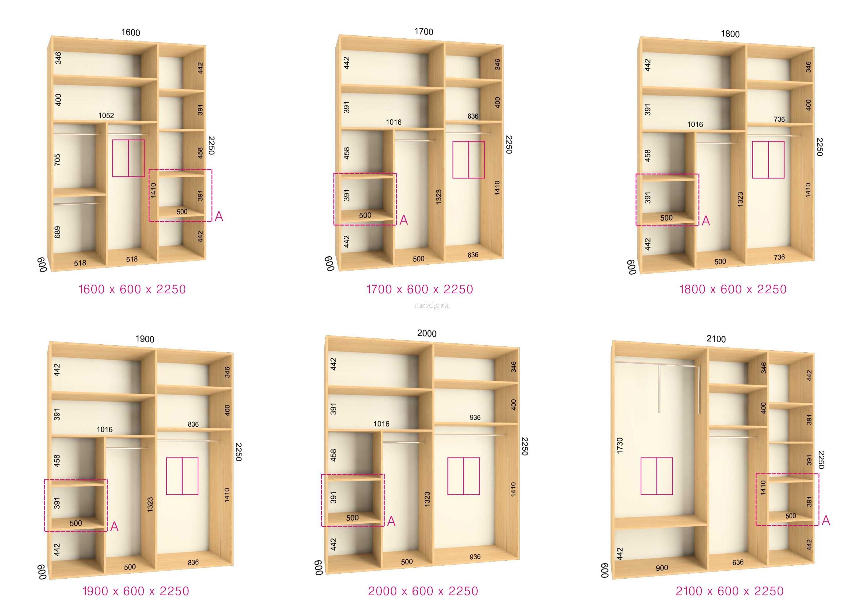 Как составить схему на шкаф купе
